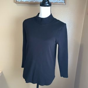 Rafaella small black long sleeve sweater top